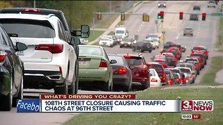 108 St. closure causing traffic chaos at 96 St.