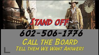 Call the Maricopa County Board of Supervisors - 602-506-1776. We Want Answers
