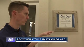 Dentist helps young adults achieve GEDs