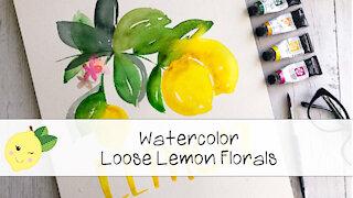 Watercolor Painting Lemons - The Lemonade Store