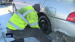 Tow truck drivers busy during the cold snap