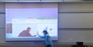Cool Math Professor Fixes Projector Screen (April Fools Prank)