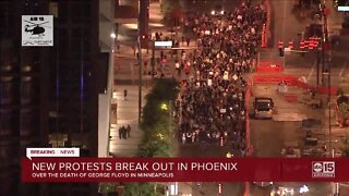 Night 2: Crowds march in downtown Phoenix in response to recent police incidents