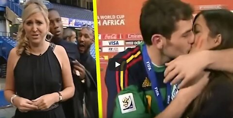 Top funny moments with reporters in sports!!!