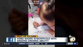 Amazing 10-month-old artist?