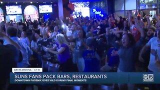 Suns fans pack bars, restaurants for Game 2