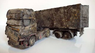 Scania V8 R730 Restoration Abandoned semi trailer truck