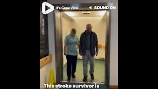 Stroke Survivor Leaves Hospital After Three Months