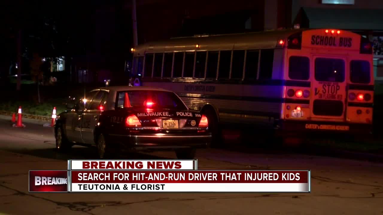 Police are searching for the driver who injured two kids in a hit-and-run