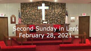 2nd Sunday in Lent Worship - John 7:37-39 - February 28, 2021