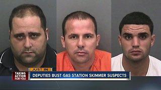 Three arrested in Hillsborough County gas pump skimmer investigation