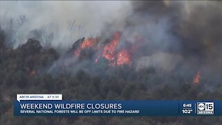 Wildfire closures throughout state national forests