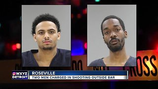 Two charged in shooting outside Roseville bar
