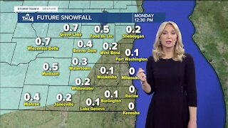 Chilly Sunday, highs in 40s with possible rain showers, flurries