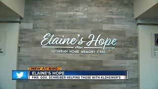 Elaine's Hope: Former Governor Schreiber helping those with alzheimers