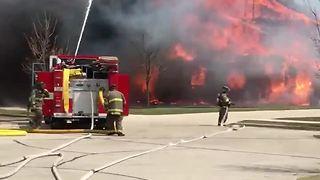 House fully engulfed in flames in Kewaskum
