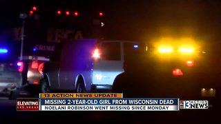 Missing 2-year-old girl from Wisconsin found dead