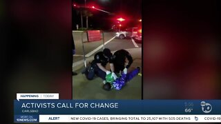 Activists calling for change after a man was tased by Carlsbad police