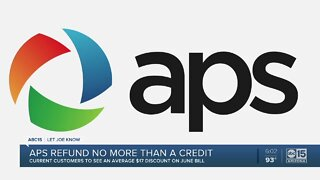 """APS """"refund"""" no more than a credit on your bill"""