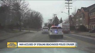 Man accused of stealing Beachwood police cruiser