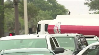 Truckers work to keep supply lines open during pipeline shutdown