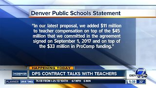 DPS contract talks with teachers