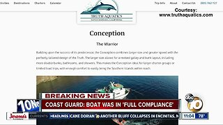 """Coast Guard says boat that caught fire was in """"full compliance"""""""