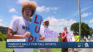 Parents, student-athletes rally for fall sports