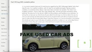 Warning signs of a fake used car add