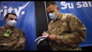 NJ Airmen Serve Community At Atlantic City Vaccine Site