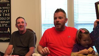 Husband shocked with baby #4 pregnancy announcement