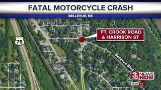 Fatal motorcycle crash in Bellevue