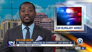 3 teens accused of auto burglaries in Indian River County