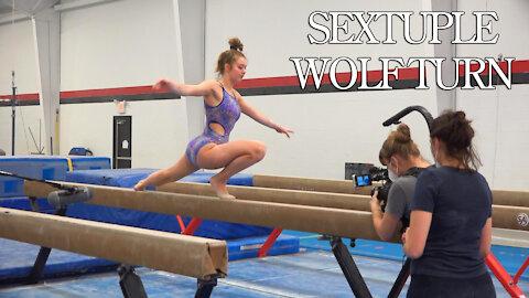 Sextuple Wolf Turn | Is 7 Possible? | Whitney Bjerken Gymnastics