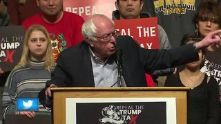 Sen. Bernie Sanders speaks in Green Bay