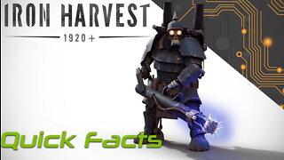 Iron Harvest Quick Facts - WW1 Era Mecha RTS