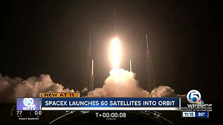 SpaceX launches its first 60 satellites to deliver internet from space
