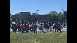 Goodyear tire workers rally after Trump's call for boycott of Akron company