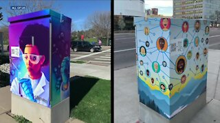 Some traffic boxes in Denver have a QR code