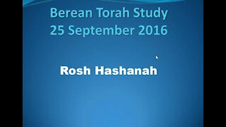 Rosh Hashanah This is from a Messianic Jewish Perspective