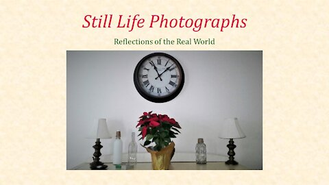Still Life Photographs: Reflections of the Real World