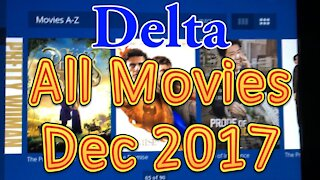 Delta's In flight movies for December 2017 (All movies)