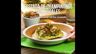 Mushroom toast with Nopales