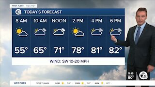 Metro Detroit Forecast: Nearly 30 degrees warmer today