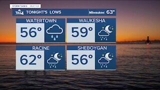 Tuesday remains warm with scattered showers