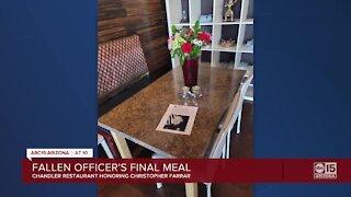Fallen officer's final meal: Chandler restaurant honoring fallen officer Chris Farrar