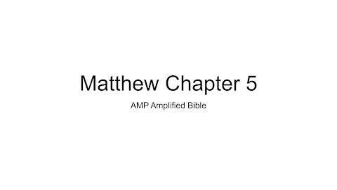 Audio Bible Reading Matthew 5 AMP version