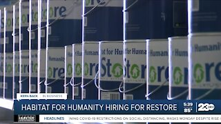 Habitat for Humanity Golden Empire looking to hire for ReStore in Southwest Bakersfield