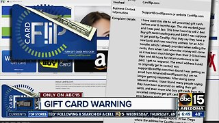 Warning about gift cards
