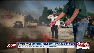 American Legion honors stars and stripes with retirement ceremony on Flag Day